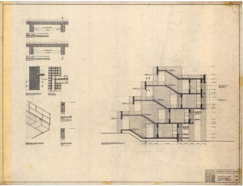 Muzharul islam archive drawings chittagong university for Modern hostel building design